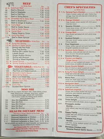 Sagamore Beach, MA: Updated menu (compared to the ones online)