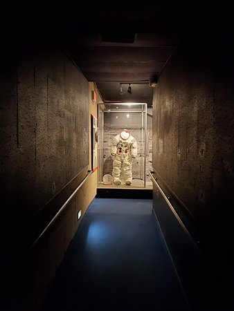 Hallway leading to Neil Armstrong's Apollo 11 back-up spacesuit