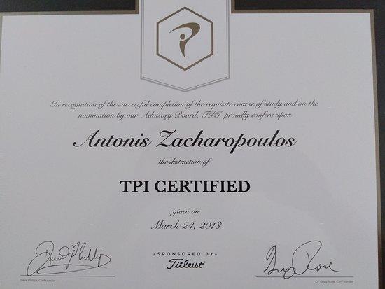 Paphos, Cyprus: Titleist Performance Institute, Golf LEVEL 1 Therapist