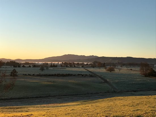 Early morning view from the church at Rangiaowhia