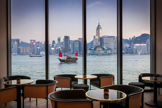 Lounge bar with view