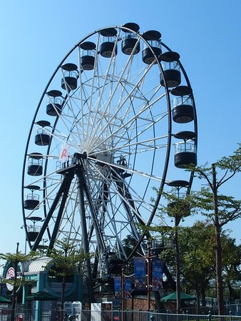 another photo of the massive Ferris wheel in the amusement park