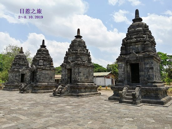 Surrounding small temples.