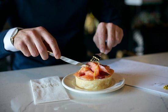 Salmon Quiche with truffle cream cheese