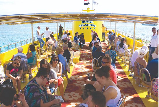 the sun deck of the Royal Seascope is just as impressive. Enjoy a refreshing drink and relax
