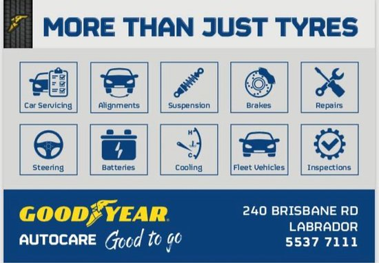 Arundel, Australia: We do all mechanics as well as tyres