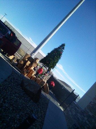 Hello .! Prairie Flower guys putting up Christmas tree