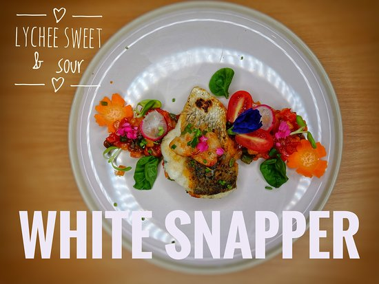Grill fresh snapper battles with Lychee sweet and sour sauce