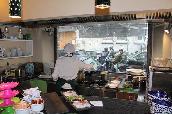 la cucina con vista - Picture of Com Saigon, Florence ...