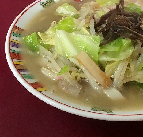 チャンポンの具とスープ