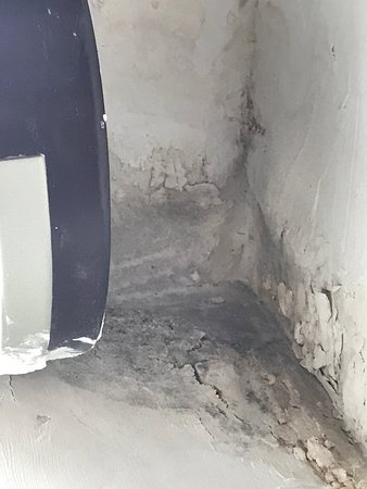 Water damage in room