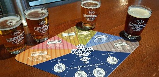 Sampling the Granville Island brews