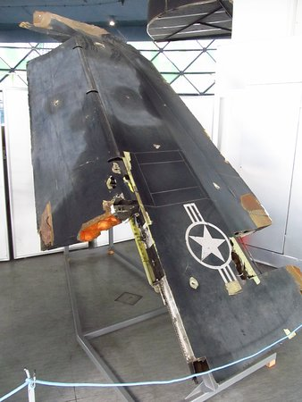 Lockheed F-117A Nighthawk stealth fighter  (parts) - shot down by Serbia air defence forces during the USA and NATO attacks in 1999.
