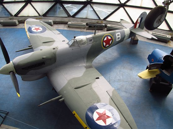 Spitfire Mk Vc, (the YAF serial 9489, c/n 17545) was built early 1943e, and it is the only in the world preserved Mk V variant plane with tropical air inlet with dust filter. By the end of their service, Spitfire were utilized as reconnaissance planes, with a vertical recording aerial camera built in on the left side, behind pilot's seat.