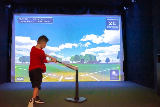 The Full Swing Golf simulator includes a projector, computer, touch screen, dual ball-tracking technologies, golf course software, enclosure, hitting screen, hitting mat, and all necessary components to realistically simulate golf. Additional sports offered in the simulators include Soccer, Football, Baseball, Hockey, Cricket, Rugby, & Basketball.