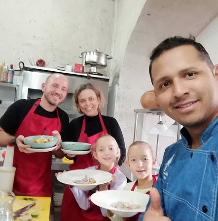 Our chef handles very well family groups 9 year old twins from Sweden