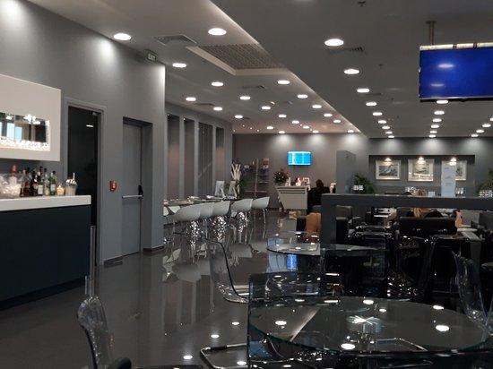 Athens airport . Goldair lounge .