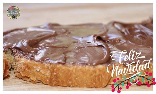 Tosta de crema de chocolate