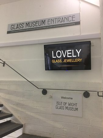 The glass museum is upstairs via the Isle of Wight Studio Glass shop on the ground floor. Regretfully there is no disabled access at present.