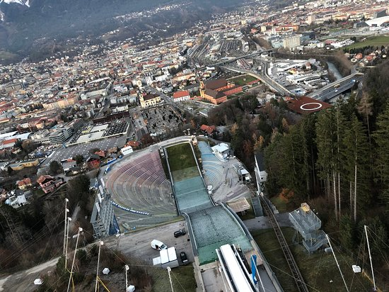 Bergisel Ski Jump Arena Entrance Ticket in Innsbruck: View from top