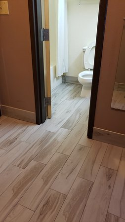 newly renovate entry and bathroom