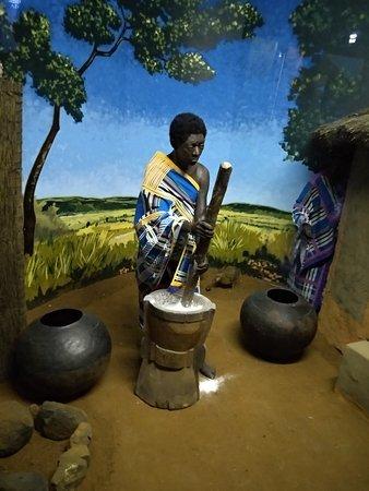 Манекен, изображающий одно из племен