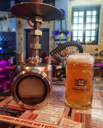 Industrial ice cold HOOKAHS & great beers on tap!