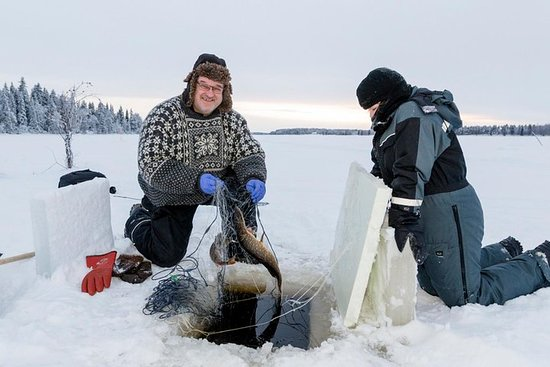 Ice Fishing by Snowmobile from Levi Resmi