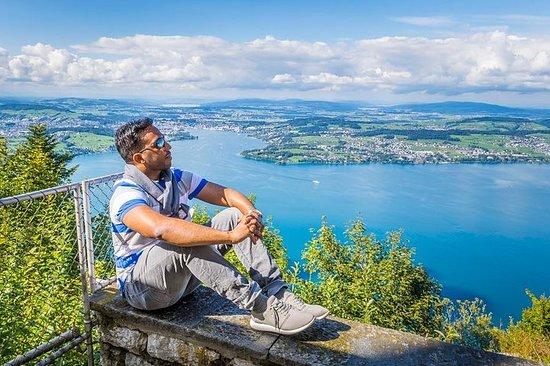 Excursão fotográfica de Burgenstock Panorama de Lucerna
