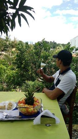 Silvania, Colombia: Disfruta de un dia relajante y un delicioso jugo proteinico a base de frutas y vegetales.