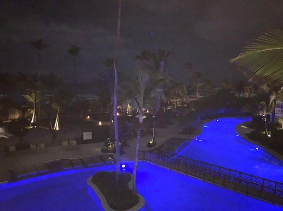 Night view from our room in building 10