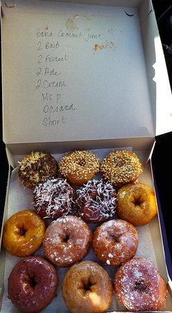 Dozen assorted donuts freshly made