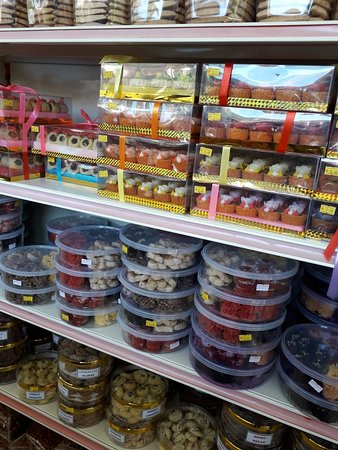 Cookies, crisps and local delicacies