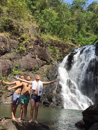 Voen Sai, Cambodia: You can enjoy swimming at the waterfall