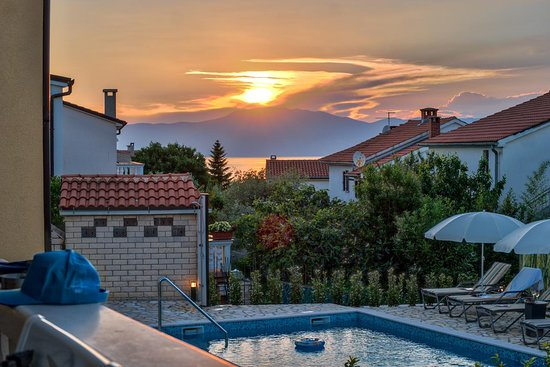 Sunset view - Villa Njivice, island Krk