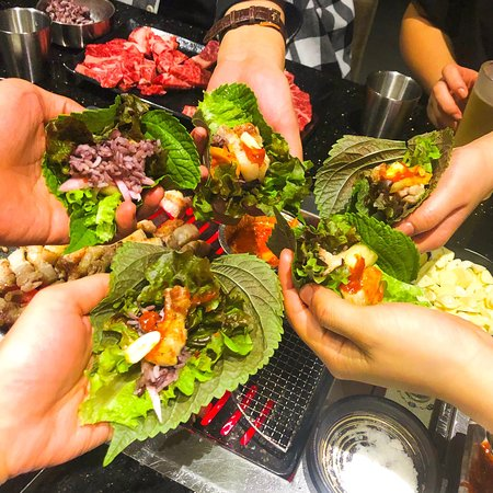 MAKE IT SSAMM . SSAMM 쌈 Various kinds of Mixed lettuce and Vegetables for SSAMM  🥬✊🏼 SSAMM a.k.a Veggie Wrap the classic way of enjoying Korean BBQ. ⚡️ We use fresh organic vegetables for SSAMM