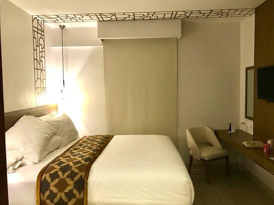 Bedroom of the one-bedroom suite.