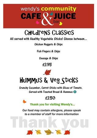 Great Bedwyn, UK: winter menu last page