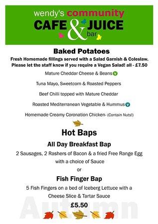 Great Bedwyn, UK: winter menu 3rd page