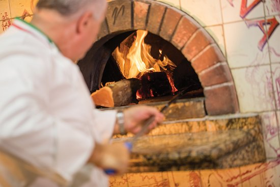 Amazing pizza made in our wood fire oven