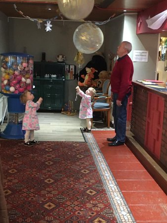 Balloons given by the landlord to two 2 1/2 yr old girls, gave oceans of fun