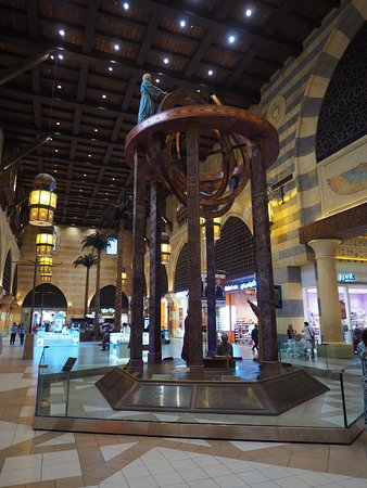 Each section of the mall covers a different country that Ibn Batutta visited - from Andalusia to China.