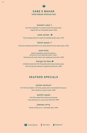 Sabz e Bahar and Seafood Specials
