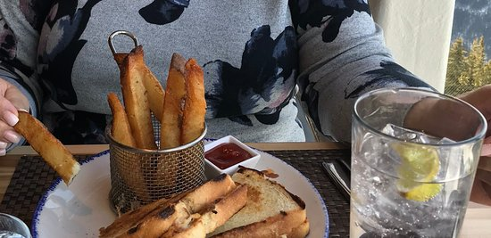 Duck fat fries and grilled cheese sandwich