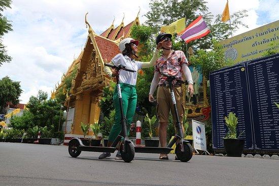E-スクーターでバンコクを探索し、ストリートフードをお試しください