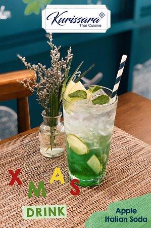 Festive drink - Apple Italian Soda