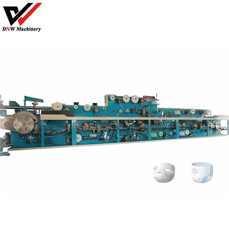 Baby diaper manufacturing machine manufacturer in China offers semi servo pull up baby diaper manufacturing machine, high accuracy, reliable performance.