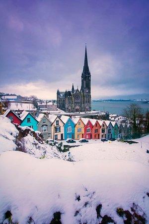 Cobh under a blanket of snow