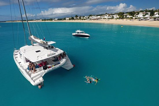 St Maarten Luxury Catamaran Full-Day...