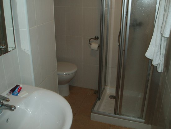 Bidet  hidden from view, round the corner.